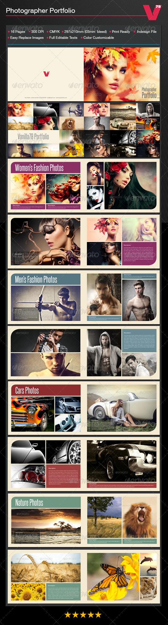 Photographer Portfolio - Photo Albums Print Templates