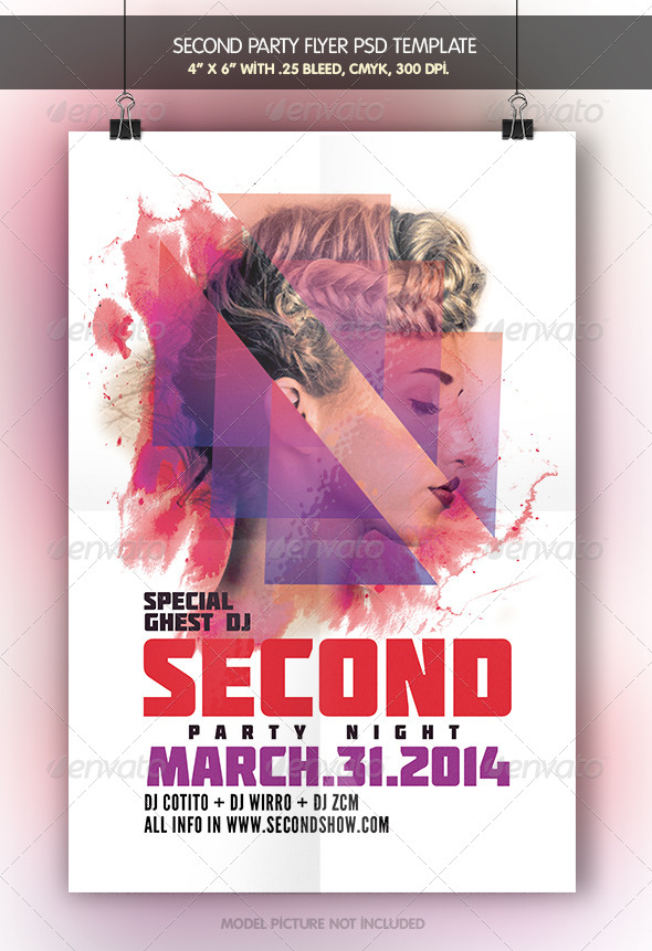 Second Night | Flyer Template - Clubs & Parties Events