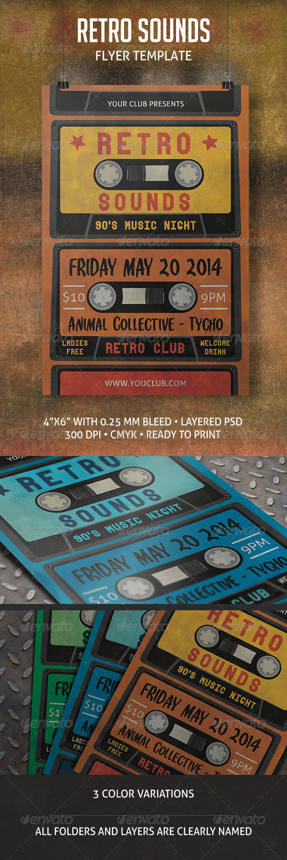 Retro Sounds Flyer - Events Flyers