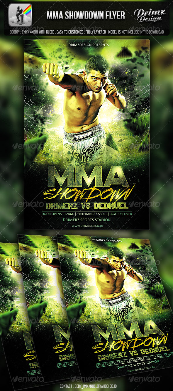 MMA Showdown Flyer - Events Flyers