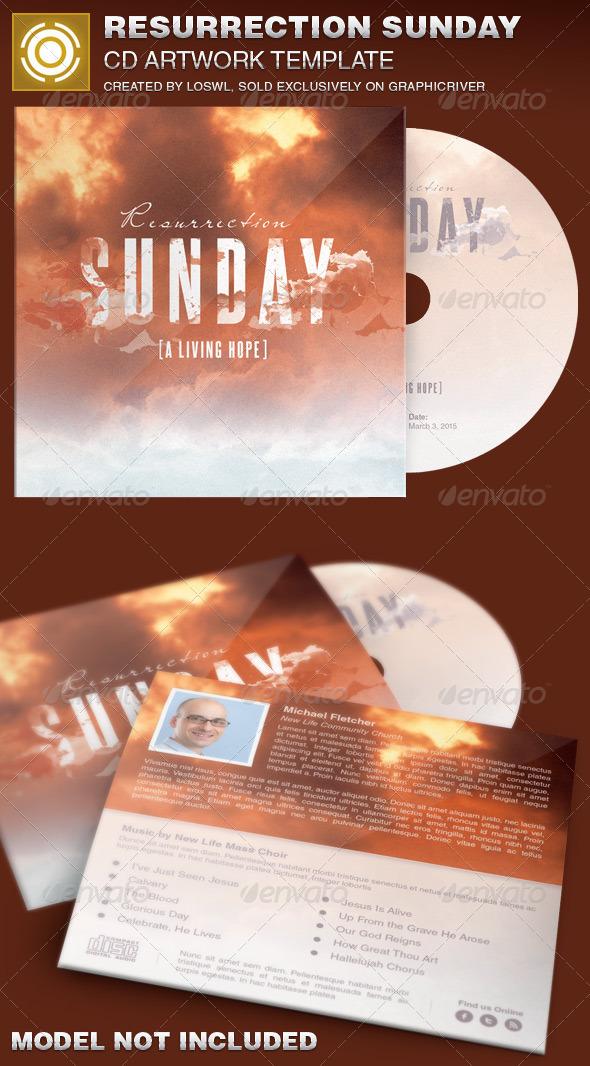 Resurrection Sunday CD Artwork Template - CD & DVD Artwork Print Templates