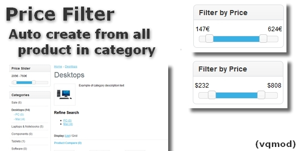 Price Filter for OpenCart - CodeCanyon Item for Sale