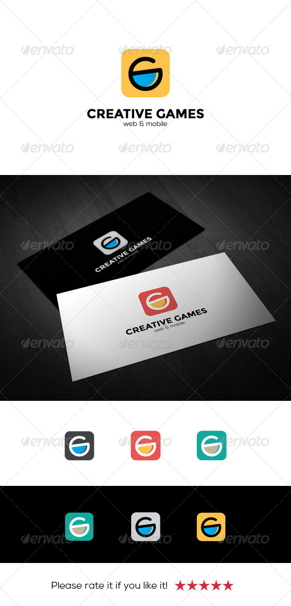 Creative Games Logo - Letters Logo Templates