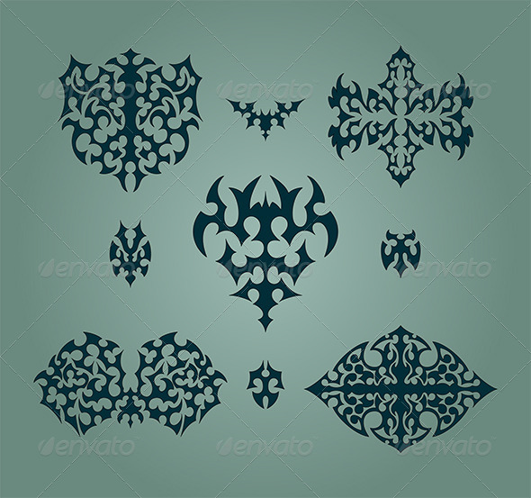 Abstract Design Elements Set - Tattoos Vectors