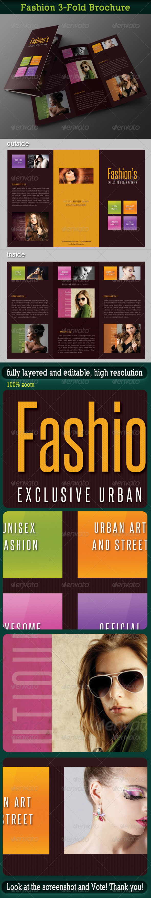 Fashion 3-Fold Brochure 18 - Portfolio Brochures