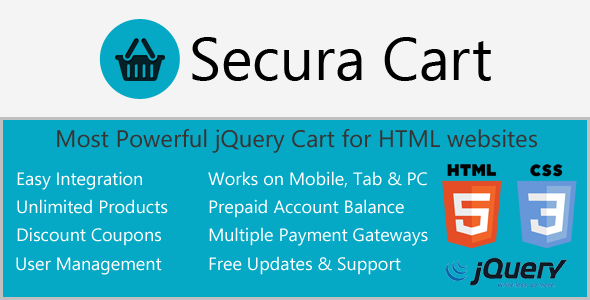 Ajax Cart for HTML websites with Digital Products