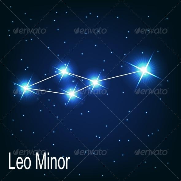 The Constellation Leo Minor - Decorative Symbols Decorative