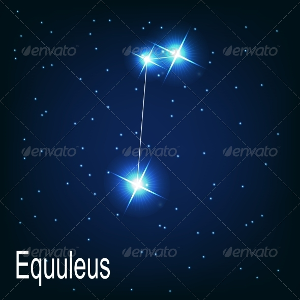 The Constellation Equuleus - Decorative Symbols Decorative