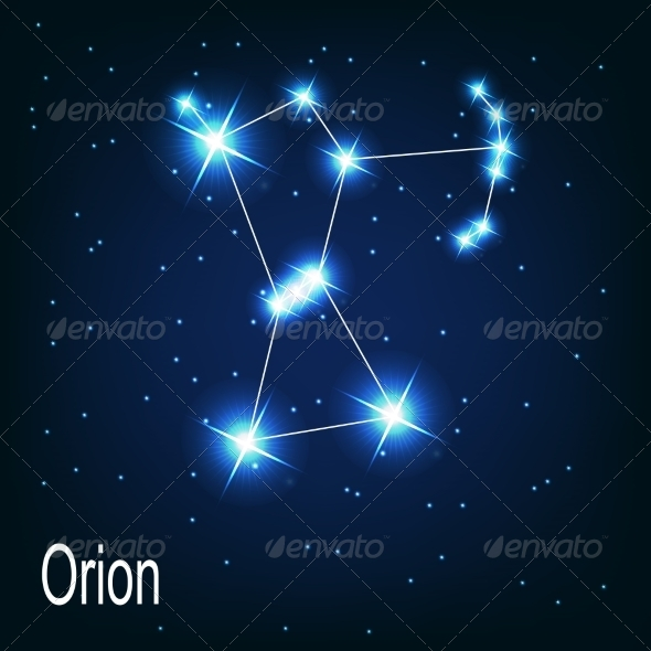 The Constellation Orion - Decorative Symbols Decorative