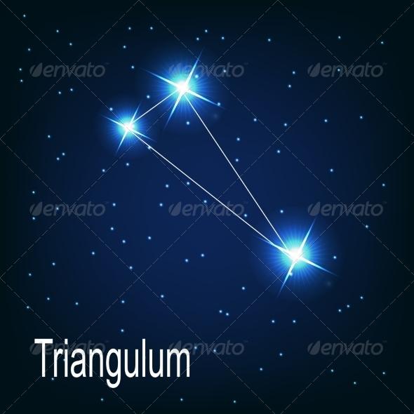 The Constellation Triangulum - Decorative Symbols Decorative