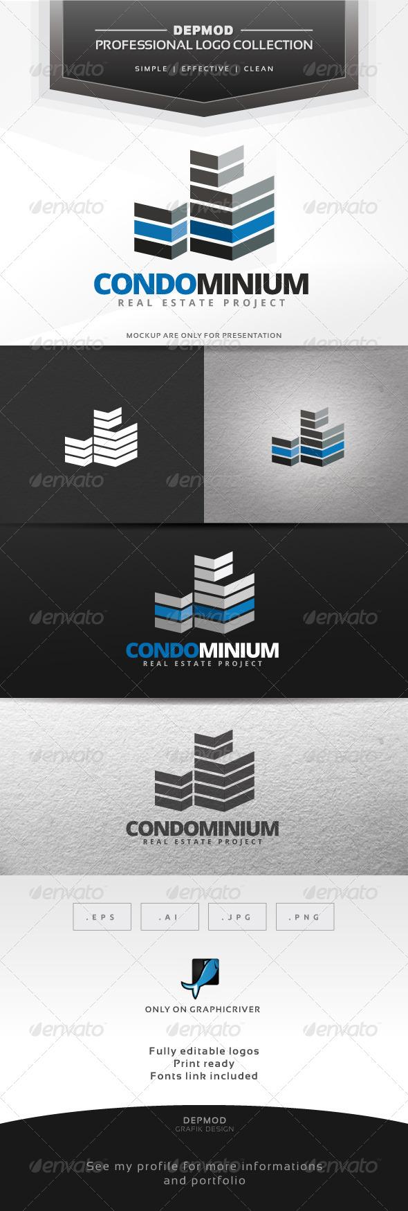 Condominium Logo - Buildings Logo Templates