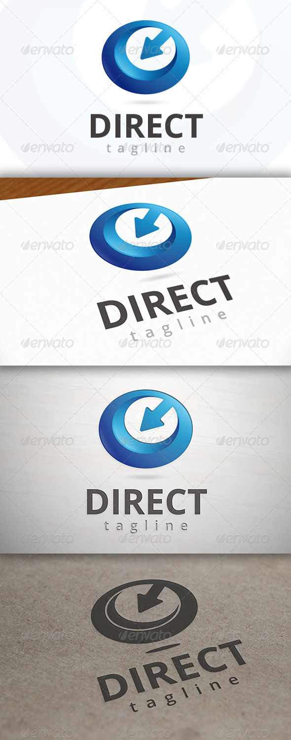 Direct Media Logo - 3d Abstract