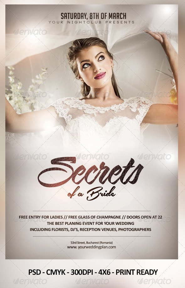 Secrets of a Bride - Events Flyers