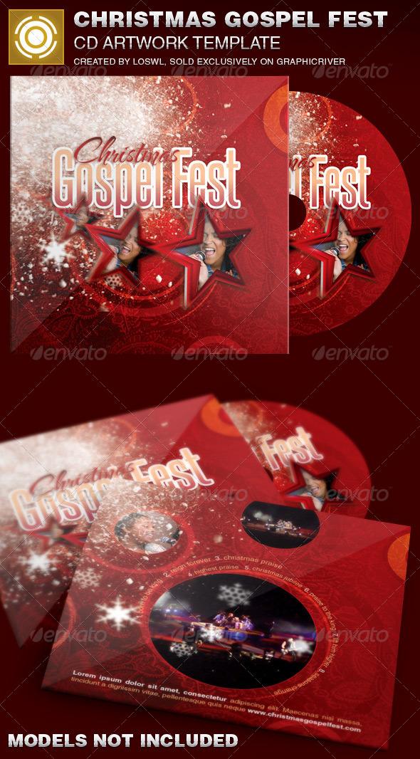 Christmas Gospel Fest CD Artwork Template - CD & DVD Artwork Print Templates