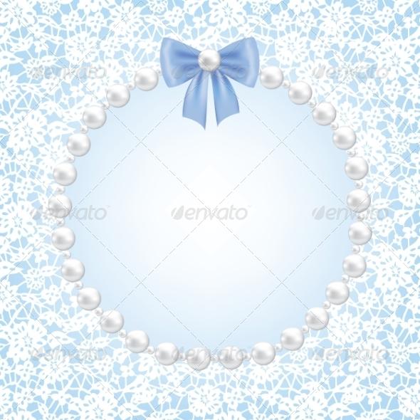 Lace Floral Frame - Backgrounds Decorative