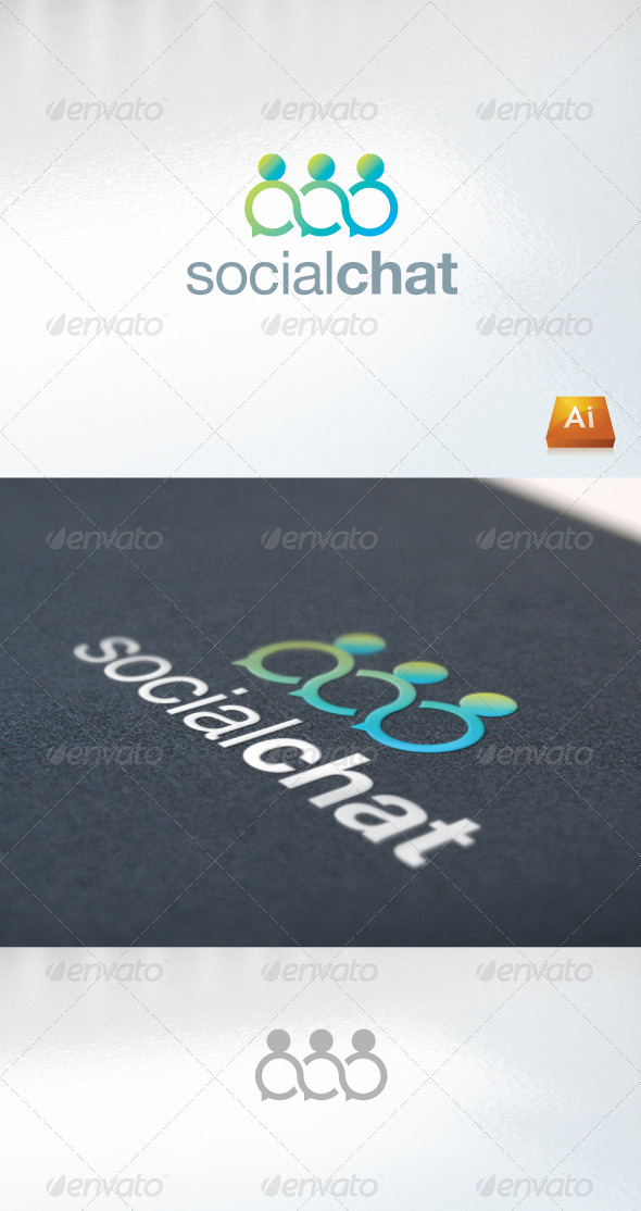 Socialchat - Humans Logo Templates
