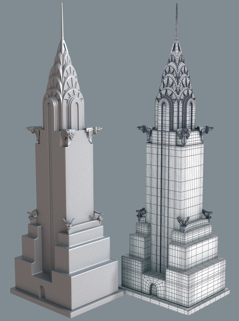 New york cartoon building collection by denelighte 3docean for Model house nyc