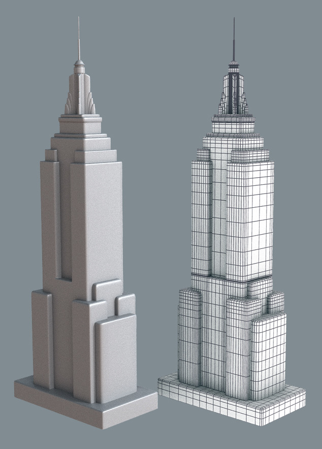 New York Cartoon Building Collection By Denelighte 3docean