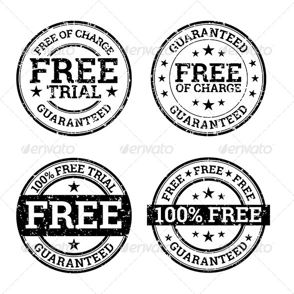 Free Trial Black and White Stamps - Decorative Symbols Decorative