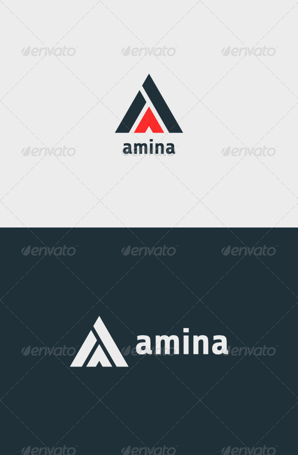 Amina Logo - Vector Abstract