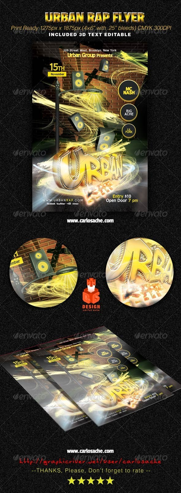Urban Rap Flyer - Clubs & Parties Events