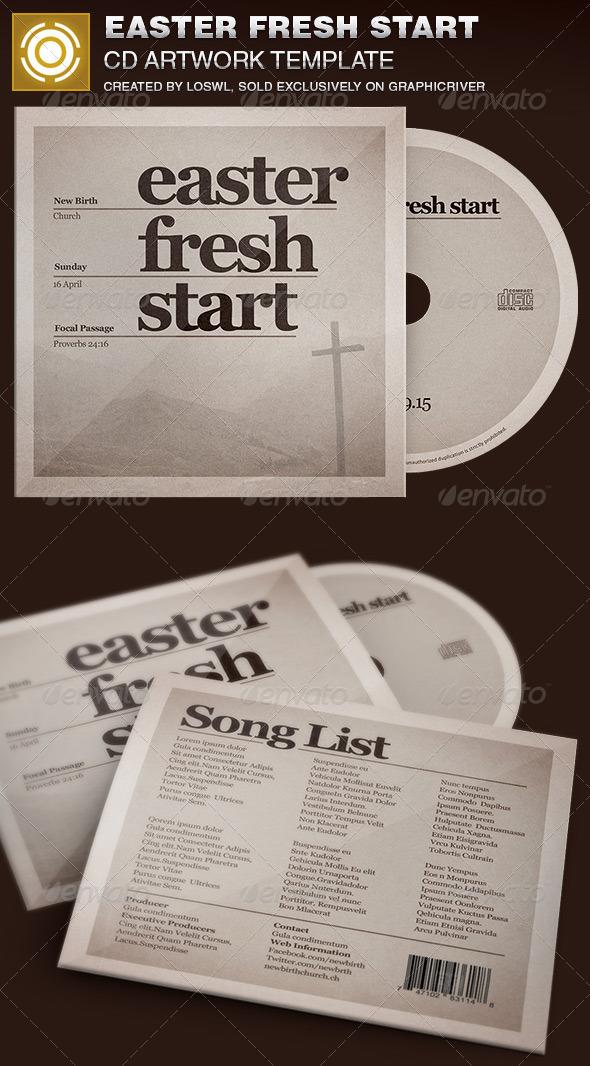 Easter Fresh Start CD Artwork Template - CD & DVD Artwork Print Templates