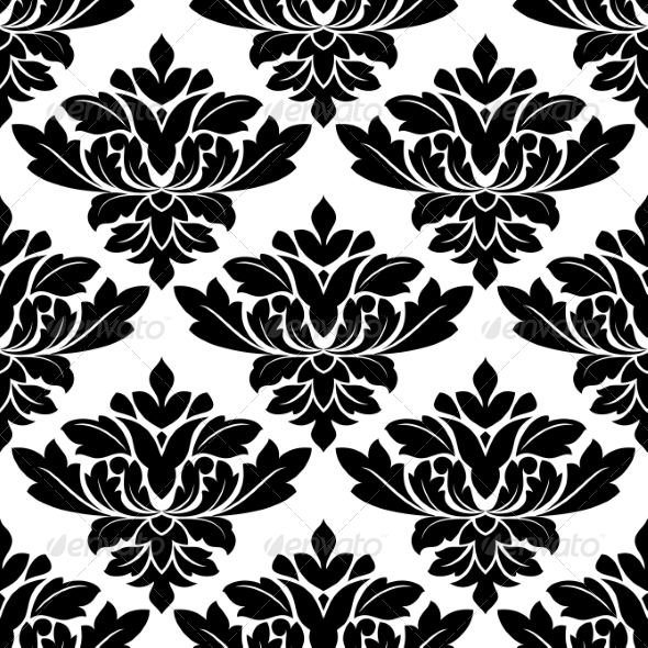 Damask Style Arabesque Pattern - Patterns Decorative