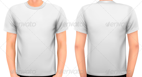 A Male Body with a White Shirt On - Commercial / Shopping Conceptual