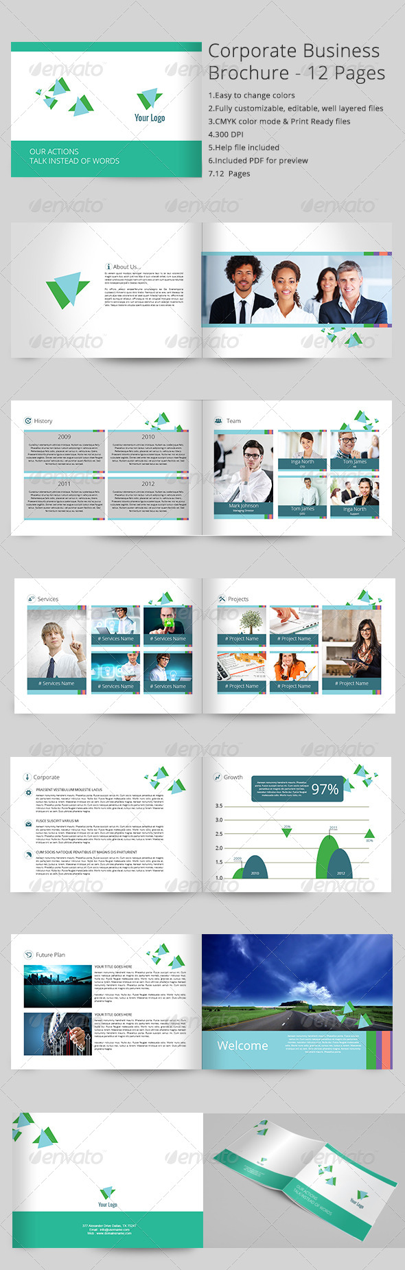 Corporate Business Brochure 12 Pages - Corporate Brochures