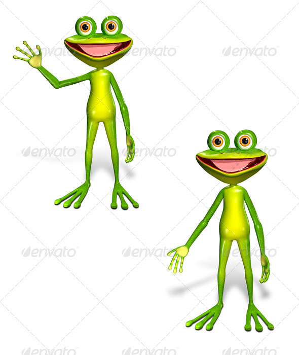 Green Frog - Characters 3D Renders