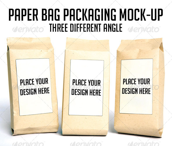 Paper Bag Packaging Mock-up - Product Mock-Ups Graphics