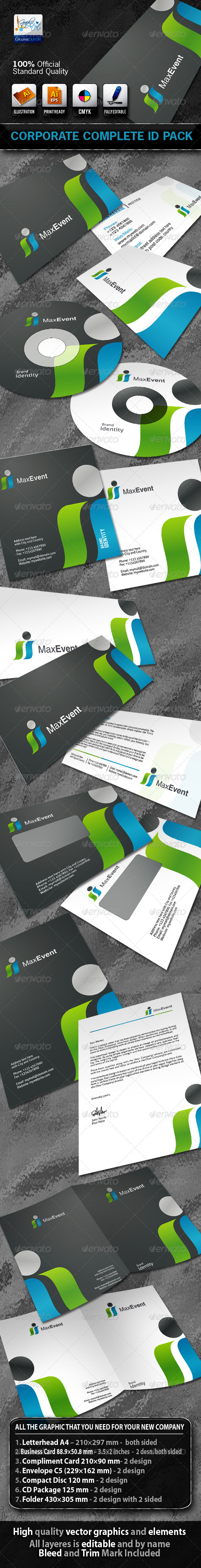 MaxEvent Business Corporate ID Pack With Logo - Stationery Print Templates