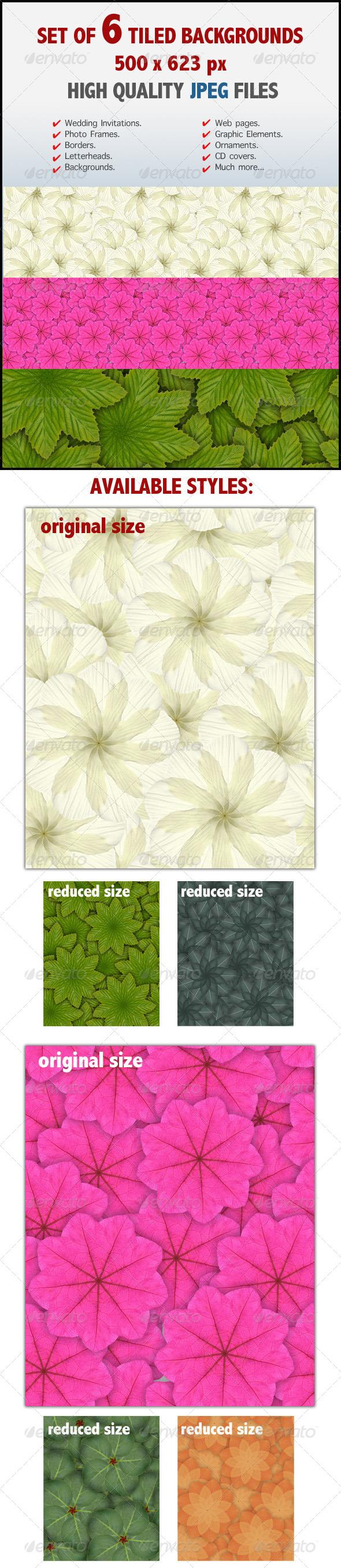 Kaleidoscopic Floral Tiled Backgrounds - Patterns Backgrounds