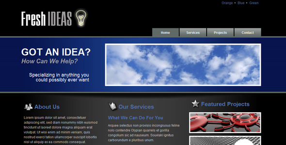 Fresh Ideas - 3 Color Themes - Business Corporate
