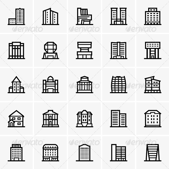 Civil Buildings - Buildings Objects
