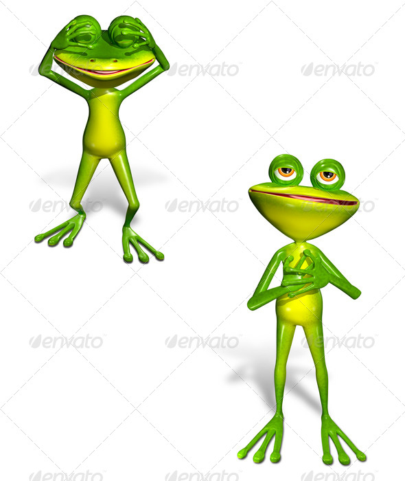 Green Frog - Characters 3D Renders