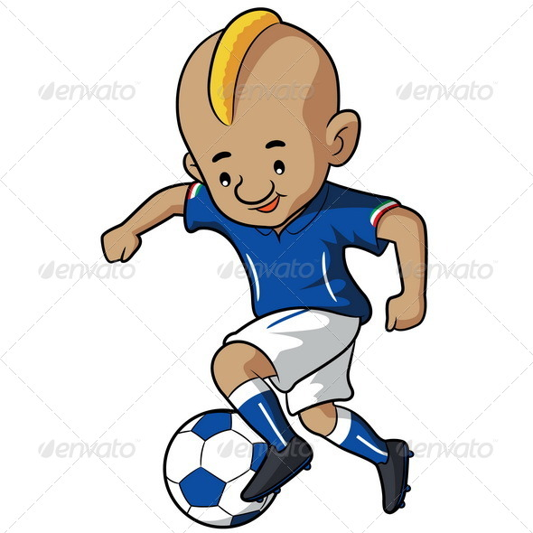 soccer kid cartoon by rubynurbaidi graphicriver