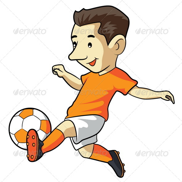 Soccer Kid Cartoon - People Characters