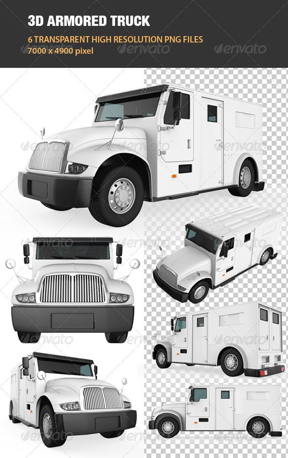 3D Armored Truck - Objects 3D Renders