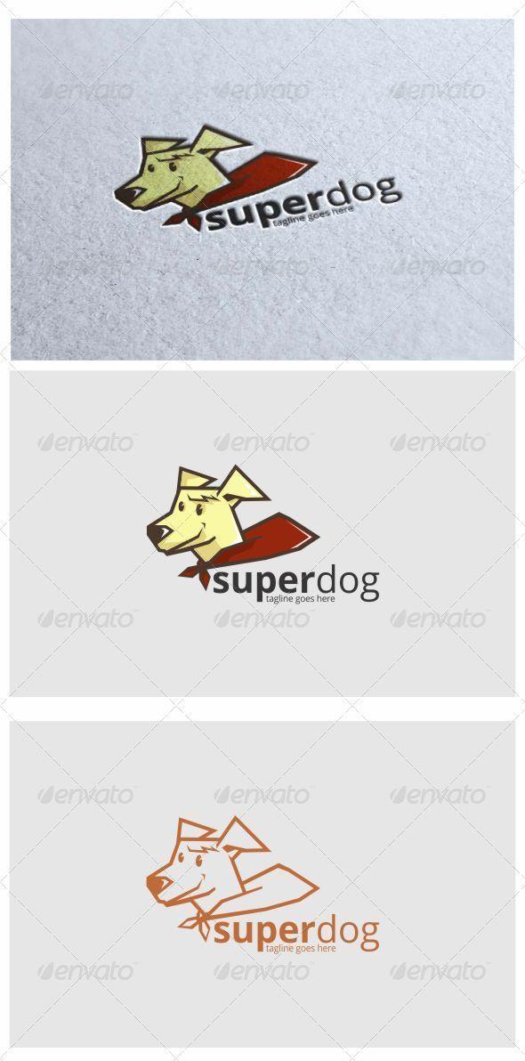 Superdog Logo Mascot - Animals Logo Templates