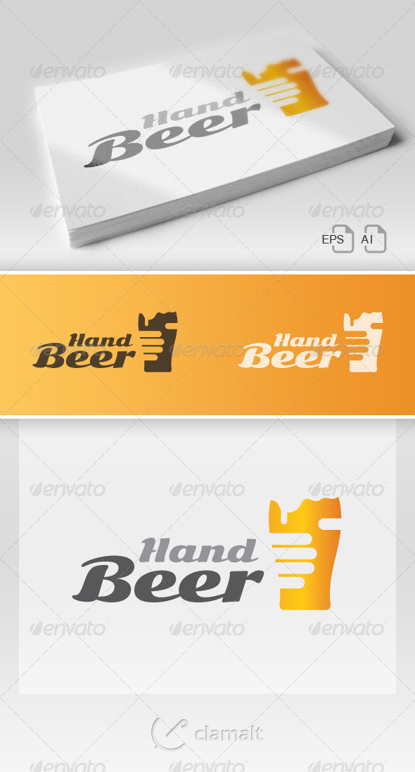 Beer In Hand Logo - Food Logo Templates