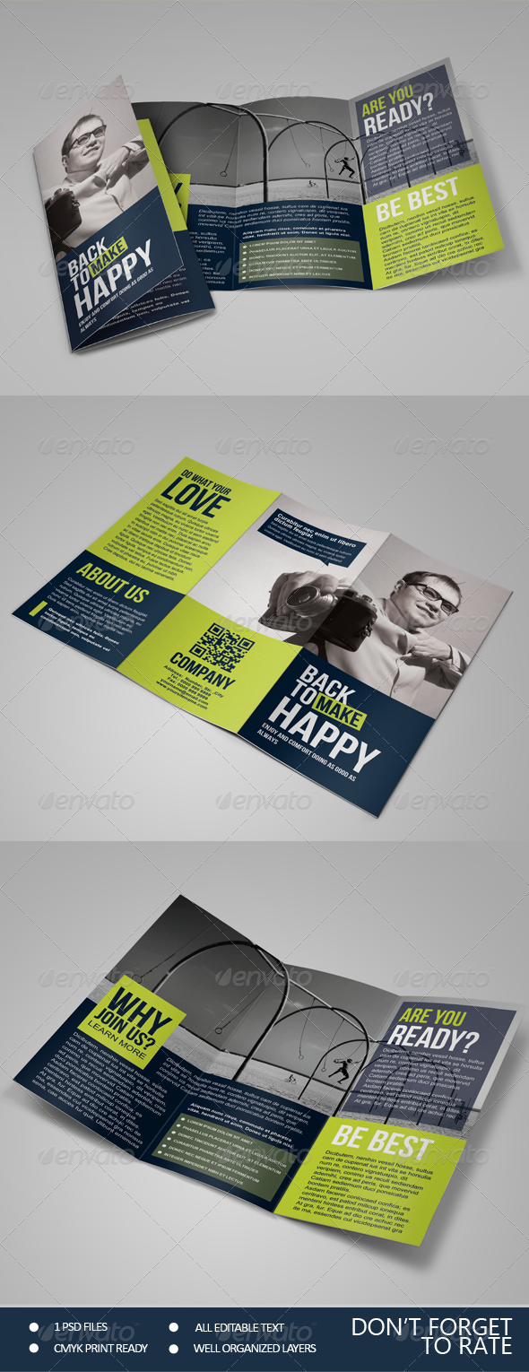 Happy - Multipurpose Trifold Brochure - Corporate Brochures
