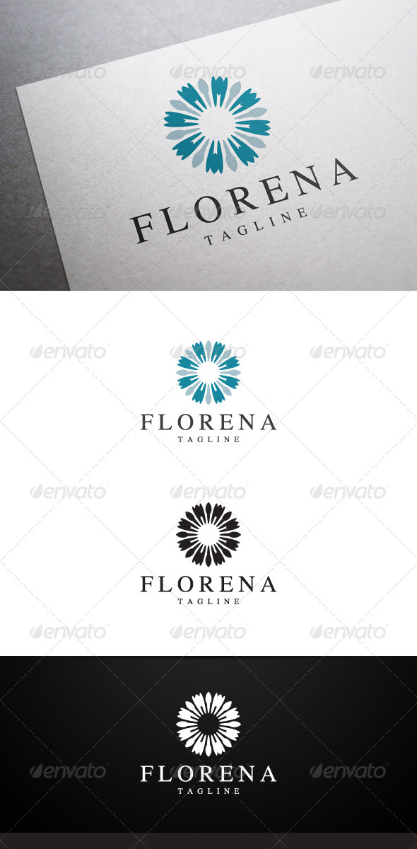 Florena Logo - Abstract Logo Templates