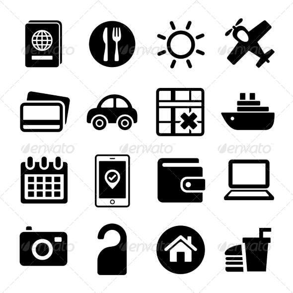 Travel Icons Set. - Miscellaneous Icons