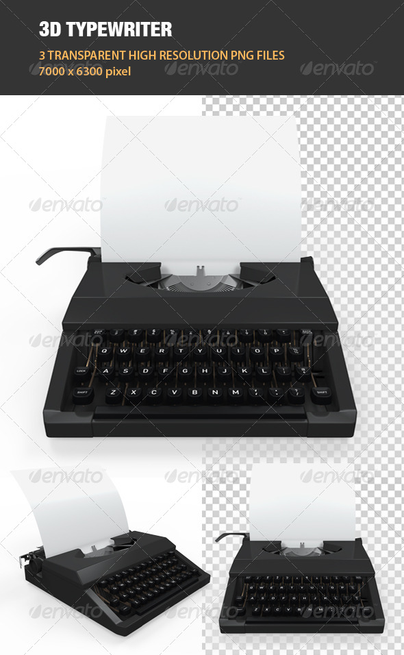 3D Typewriter - Objects 3D Renders