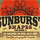 Sunbursts Shapes Vol.3 - GraphicRiver Item for Sale