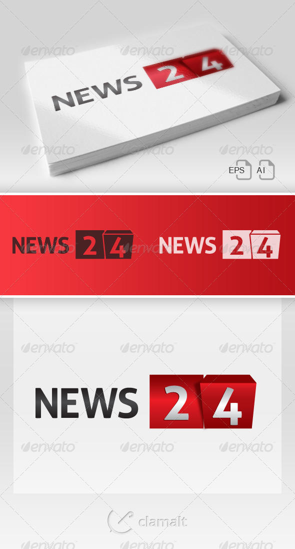 News 24 Bis / Logo - Numbers Logo Templates