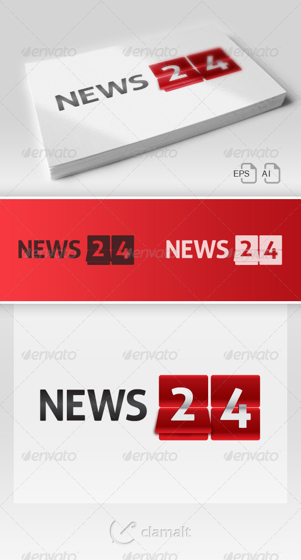 News 24 Logo - Numbers Logo Templates