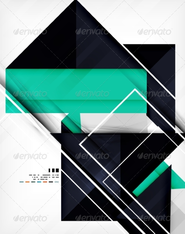 Geometric Shape Abstract Business Template - Abstract Conceptual