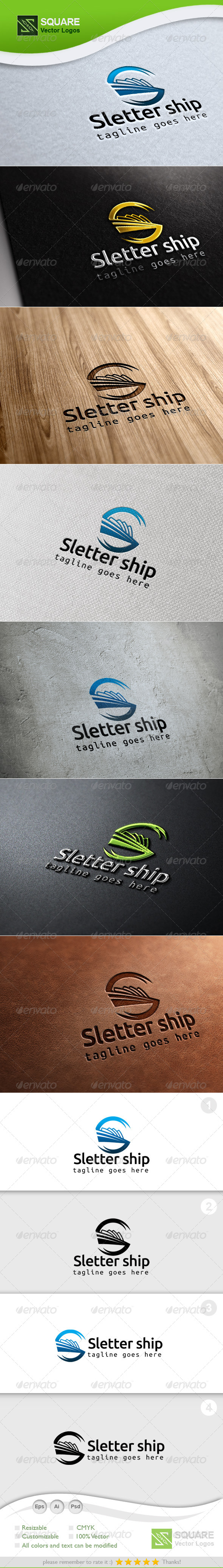 S, Ship Vector Logo Template - Letters Logo Templates